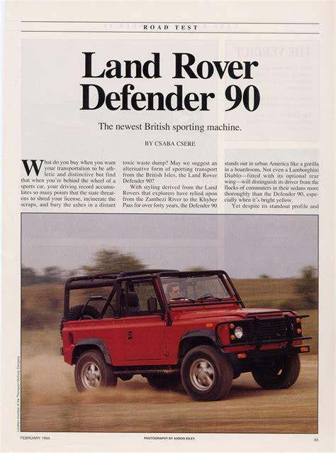 car maintenance manuals 1997 land rover defender 90 instrument cluster service manual repair manual 1997 land rover defender download windshield wiper service
