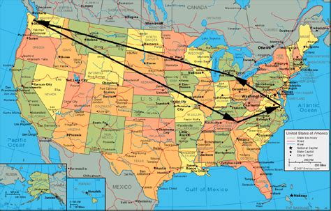 map of the united states with major tourist attractions azure january 2011