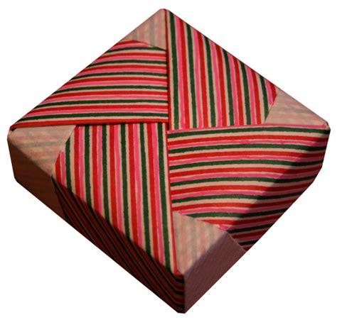 Collapsible Origami Box - origami square box folding