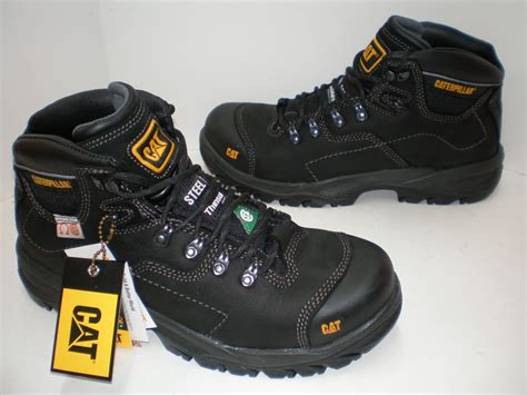 Sepatu Boots Caterpillar Frogskin Steel Toe 100 Boots Touring 1 mens caterpillar coolant csa 200 grams thinsulate steel toe work boots black ebay