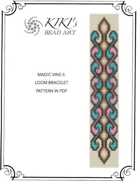 pattern magic download bead loom pattern magic vine swirly loom bracelet