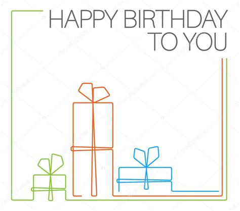 template birthday card illustrator minimalist birthday card template stock vector 169 orson
