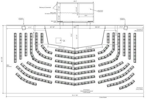 theater floor plan theatre stage measurements floor plan home plans