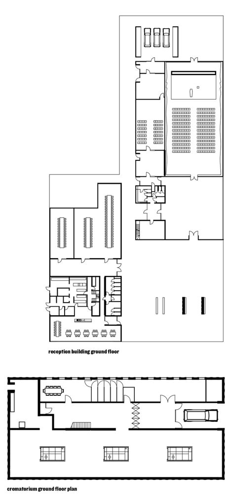 crematorium floor plan crematorium heimolen in sint niklaas by kaan architecten