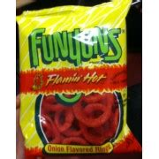 does flamin hot funyuns have pork funyuns brand flamin hot onion flavored rings calories