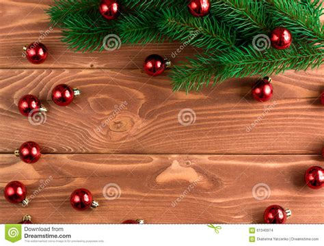 soft board decoration for christmas fir tree with decoration on wooden board soft fo stock photo image 61340974