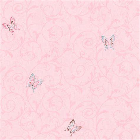 Environmental Graphics Wall Murals candice olson pink butterfly scroll wallpaper