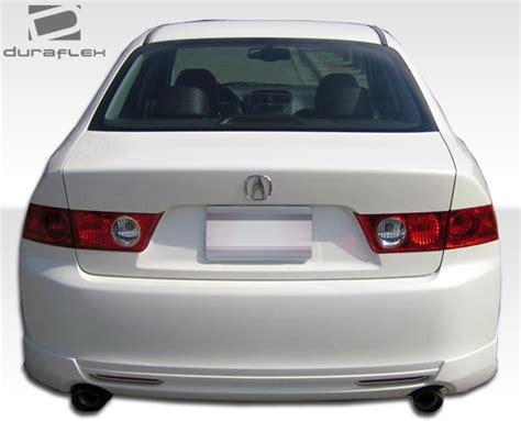 acura tsx rear lip 2004 2008 acura tsx j spec style rear lip made by duraflex