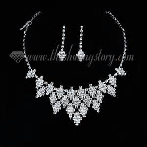 Chandelier Earrings For Wedding Wedding Bridal Prom Rhinestone Chandelier Necklaces And