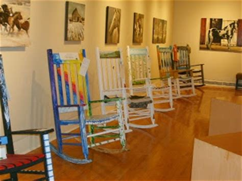 painted rocking chair fundraiser in wilkesboro nc