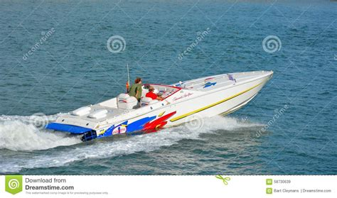 speedboot oostende speedboat at the nordsea editorial stock image image of