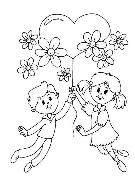 bambini con fiori disegni da colorare per la festa della mamma foto
