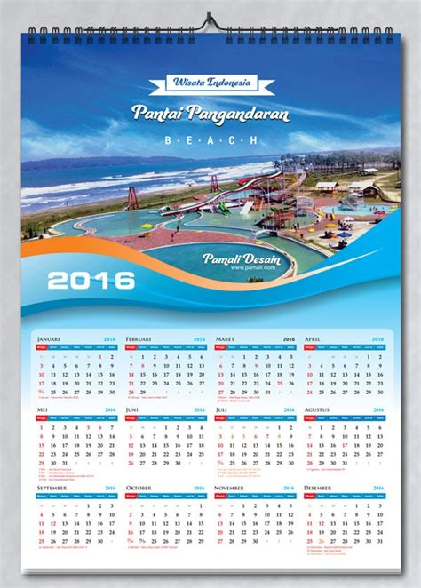 gambar design kalender download tanggalan 2016 lengkap indonesia