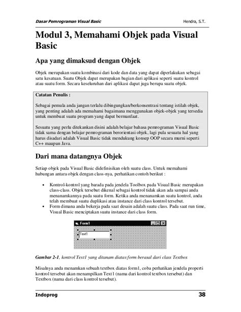 100 Kasus Pemrograman Visual C Cd by Modul Dasar Pemrograman Visual Basic