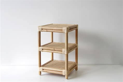 rattan side table biscayne bedside naturally rattan and wicker furniture