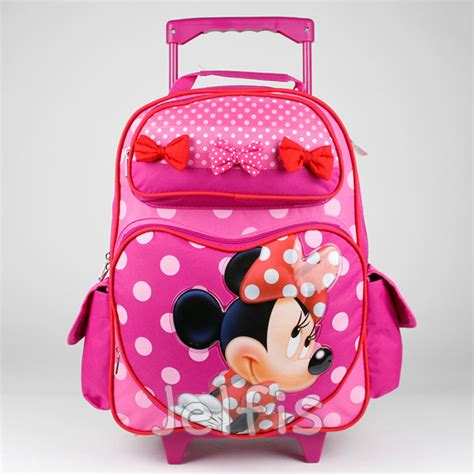 Paper Bag Minie Mouse 24cm X 24cm X 10cm disney minnie mouse rolling backpack polka dot bow 16