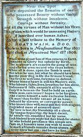 boatswain a dog epitaph to a dog wikipedia