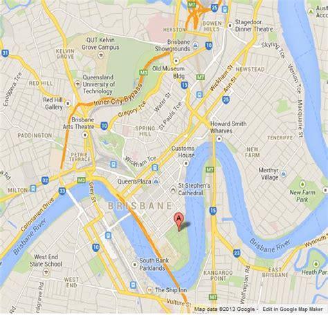 City Botanical Gardens On Map Of Brisbane World Easy Guides Brisbane Botanic Gardens Map