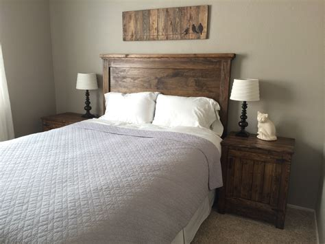 did headboard ana white headboard and nightstands diy projects