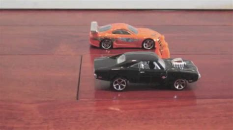 fast five dodge charger race youtube the fast and furious drag race brian vs dom toyota