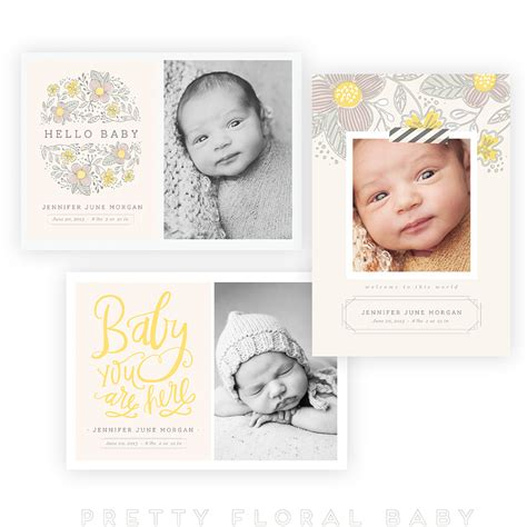 Whcc Card Templates by Pretty Floral Baby 5x7 Whcc Cards Vol 2 Oh Snap Boutique