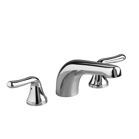 american standard colony soft lever  handle deck mount roman tub faucet trim kit  polished