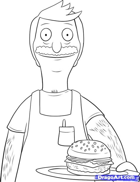 bob s burgers coloring book books how to draw bob bobs burgers step by step characters
