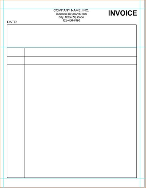 9 Computer Blank Bill Format Simple Bill Create A Simple Invoice Template In Word
