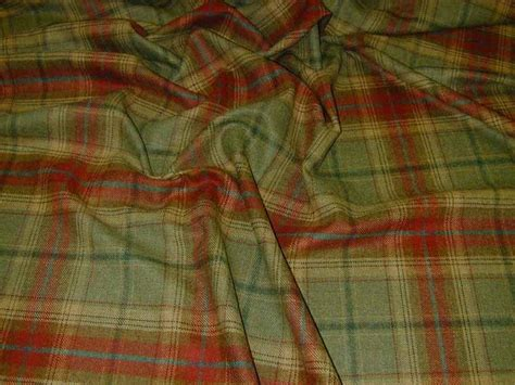 tartan upholstery fabric sale wool tartan plaid red green fabric curtain upholstery