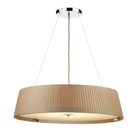 Pendant Ceiling Lighting Wheel Taupe Ceiling Pendant Large Circular Drum Shape Hanging Light