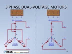 three phase dual voltage motor wiring middle tn rses