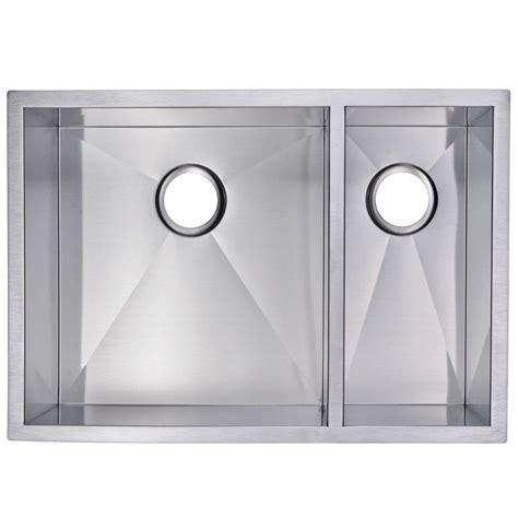 Zero Radius Kitchen Sink Water Creation Undermount Zero Radius Stainless Steel 29x20x10 0 Bowl Kitchen Sink