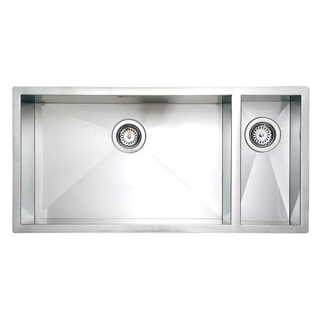 large bowl kitchen sink sqi05 qube lh zero undermount 1 5 super large bowl kitchen