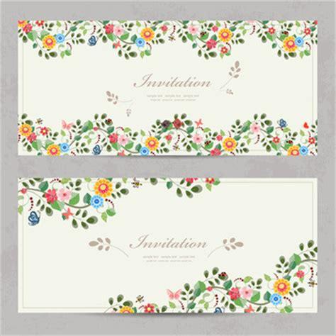 flower business card template illustrator vintage birthday invitation template free vector