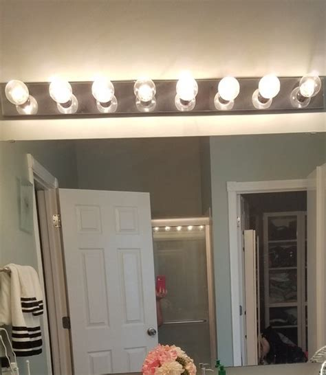 hollywood bathroom lights bathroom vanity hollywood lights makeover