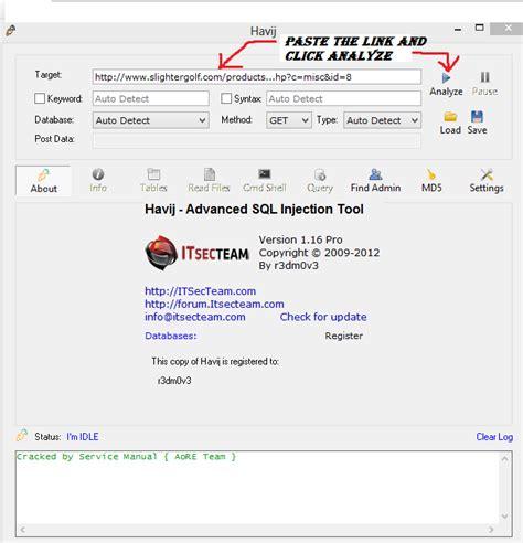 tutorial hack database server free download software games sql injection hack website