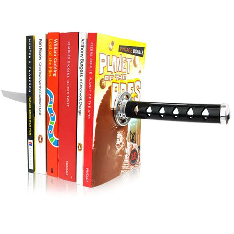 ends books magentic katana book ends stupid