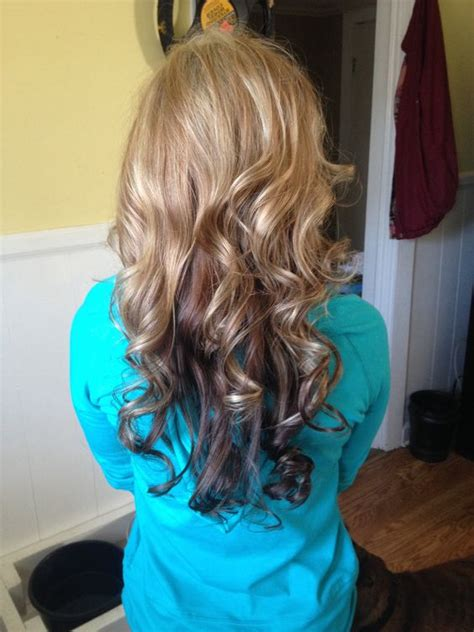 pictures of partial blonde highlights partial blonde highlights curls hair and blonde