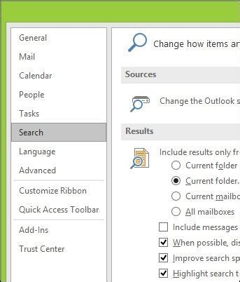 Outlook Not Searching Emails Properly How To Rebuild The Outlook 2016 Search Index