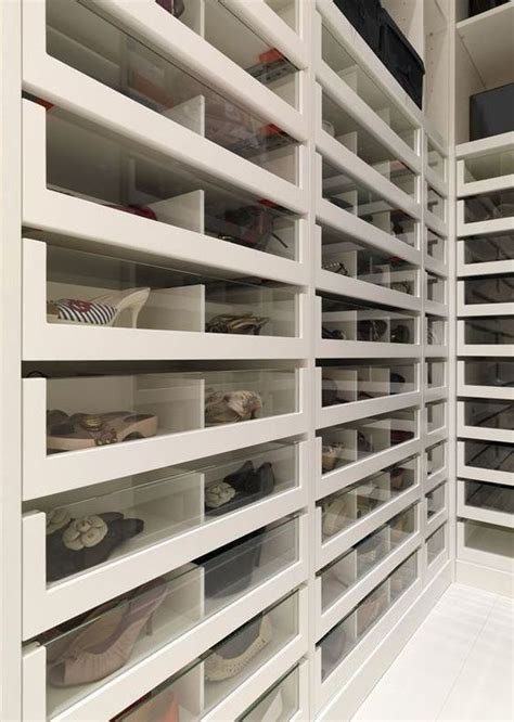 Closet Drawer by Plexiglass Fronts To See Your Closet Inventory Shoes
