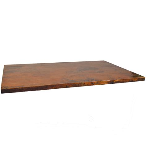 mathews company copper table top rectangular 80307
