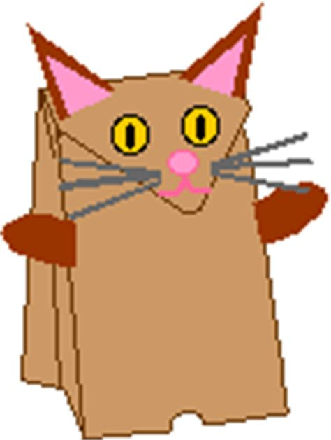 Paper Bag Cat Craft - pattern for paper bag puppets new calendar template