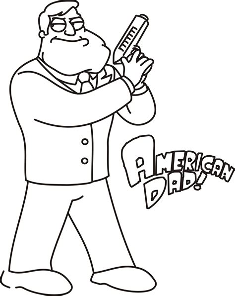 american dad coloring pages coloring home
