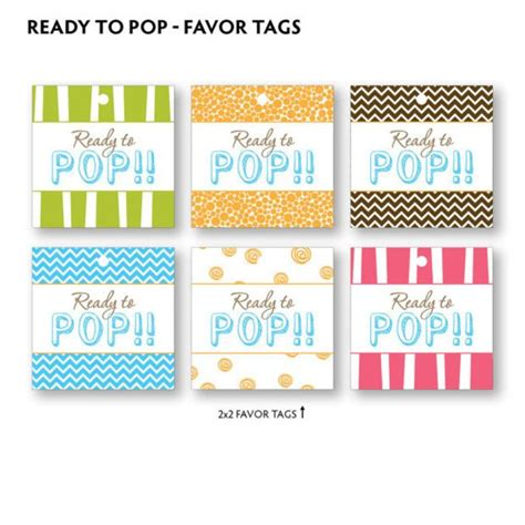 Diy Printable Ready To Pop Baby Shower Favor Tags Diy Baby Shower Baby Shower Ideas Ready To Pop Labels Template Free