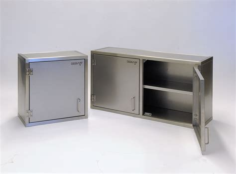 Stainless Steel Wall Cabinets Glazed Hinged Doors