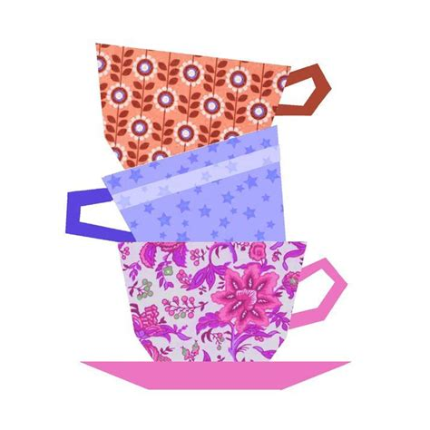 pattern paper cup cups stacking paper pieced block by cyrille craftsy