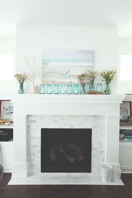 25  best ideas about White fireplace mantels on Pinterest   White fireplace surround, Fire place