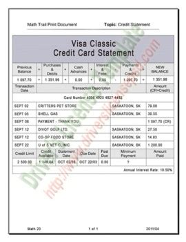 capital one credit card statement template drivers license drivers license drivers license