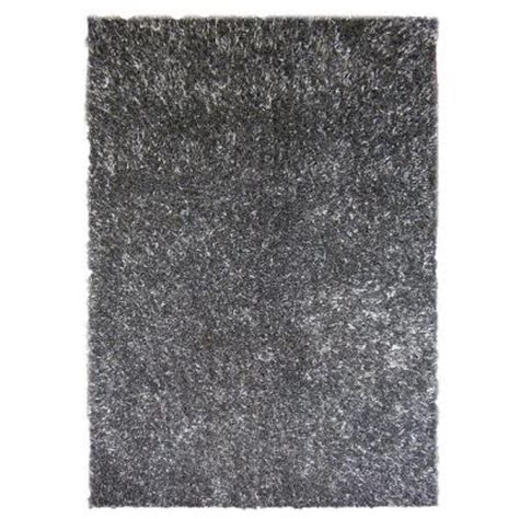 lanart ribbon shag charcoal 5 ft x 7 ft 6 in area rug