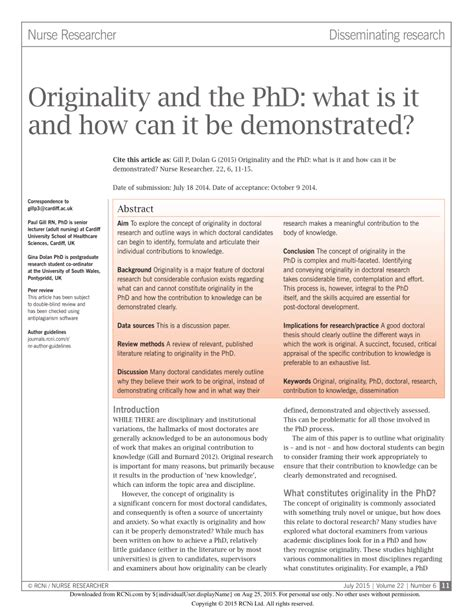 what is phd thesis originality and the phd what is it and how can it be